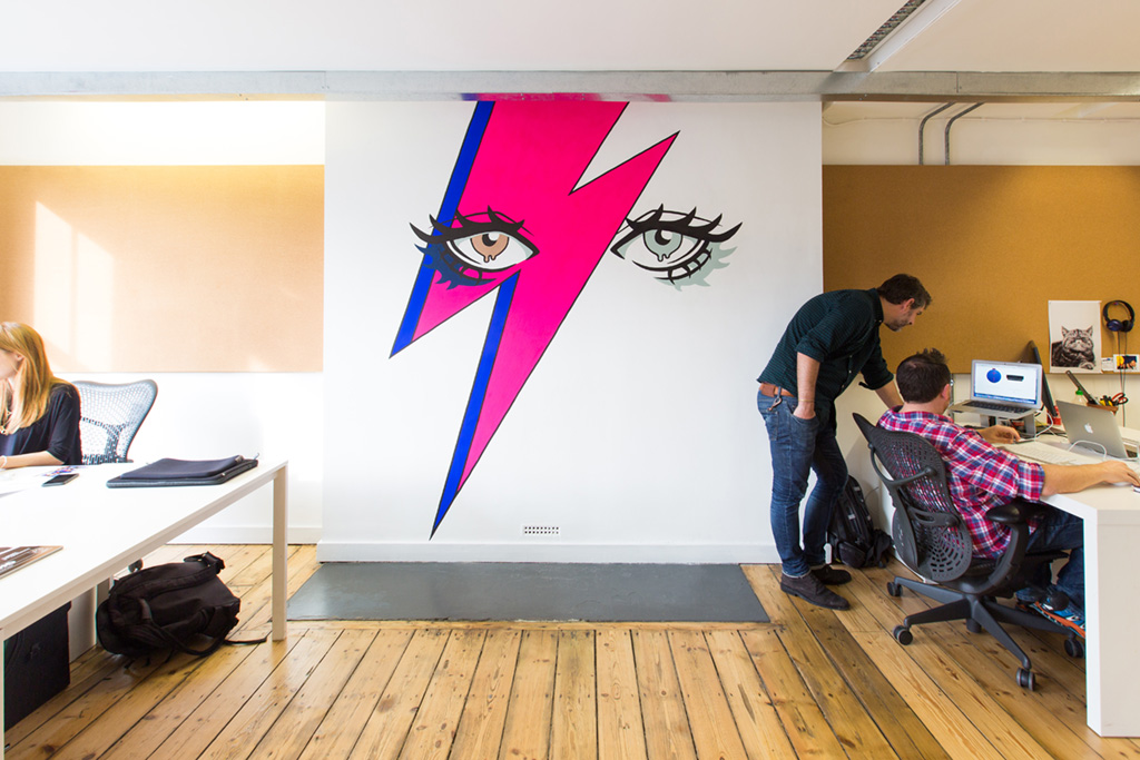 Creative office wall